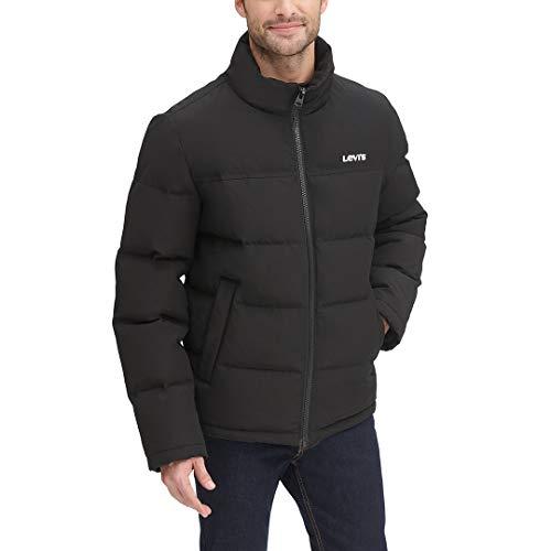Levi's Men's Arctic Cloth Retro Bubble Puffer Jacket, Black, Small