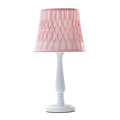 Lámpara de mesita de noche Lámpara de mesa for niños Habitación for niños Dormitorio Lámpara de cabecera Lámpara de madera Poste Lámparas de tela hechas a mano Lámpara de mesa ( Color : Purple-B )