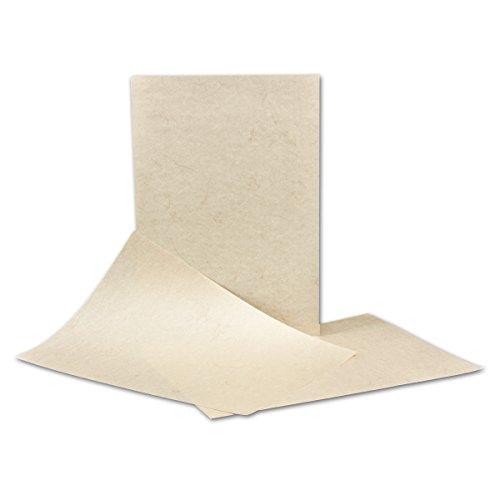 50 Stück DIN A4 Papier Bogen - 21 x 29,7 cm - Elefantenhaut HELL - 110 Gramm/m² - Urkundenpapier - Speisekarte - beschichtet