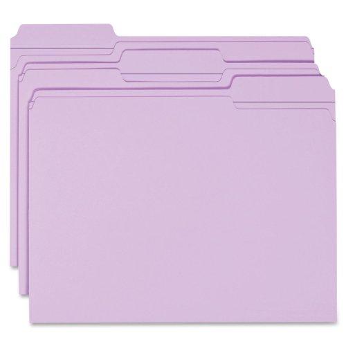 Smead File Folder, Reinforced 1/3-Cut Tab, Letter Size, Lavender, 100 per Box (12434)