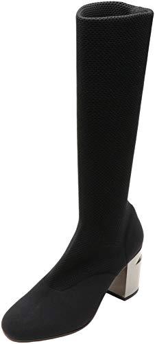 Clergerie Paris Women's Kaline Black/Double Gold Thigh-high Mesh Boot - 6.5M