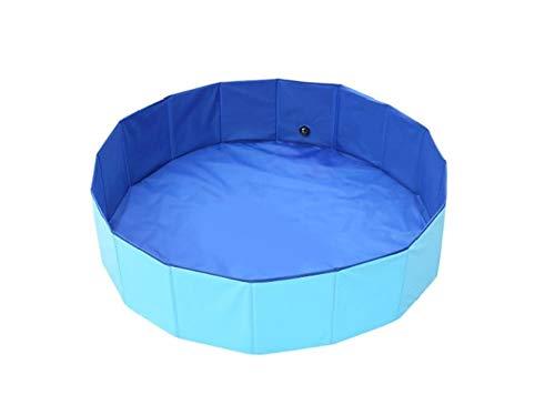 OKOUNOKO Piscinas Desmontables con Depuradora, Azul Oscuro Y Azul Claro, Piscina Desmontable Perro, 60X20Cm