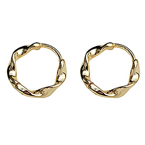 Earring Hoop Stud Drop & Dangle, Earrings Twisted Fine Workmanship Gold Color Braided Round Hoop Earrings for Women Teen Girls Birthday Christmas Friends Gift - Golden