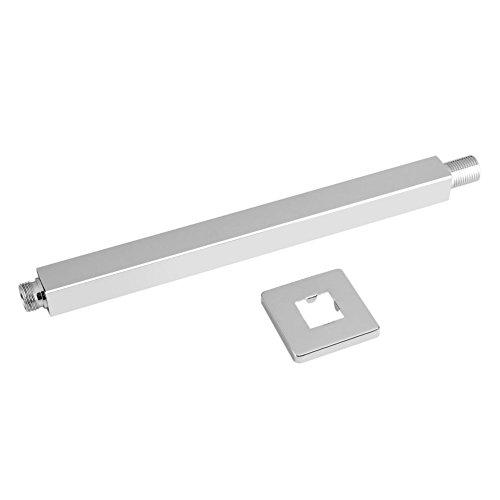 30 centimetri cromato soffitto doccia braccio di estensione a parete a pioggia soffione doccia braccio dritto tubo di prolunga per bagno doccia testa