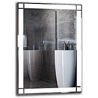 Espejo LED Premium - Dimensiones del Espejo 70x100 cm - Espejo de baño con iluminación LED - Espejo de Pared - Espejo de luz - Espejo con iluminación - ARTTOR M1ZP-60-70x100 - Blanco frío 6500K