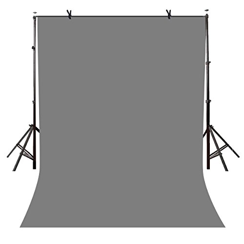 Lyly County 5x7ft Photography Studio Non-Woven Backdrop Gray Backdrop Solid Color Backdrop Simple Background LY076