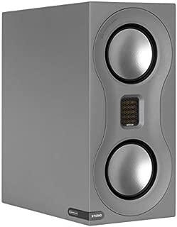 Monitor Audio Studio Standmount Bookshelf Speaker - Pair - Satin Grey