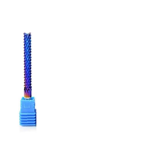 SSB-WUJIN, 1pc 4-6 mm Vástago de carburo de tungsteno Molino de Extremo Azul Nano Recubierto Juego de Brocas de PCB Fresa for el Metal de fresado CNC Router Mchine (Size : D6x22x50L)