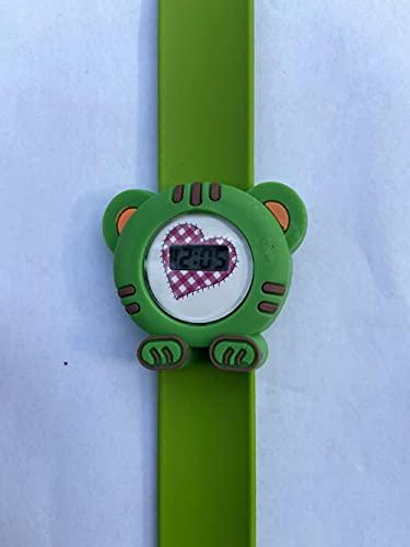 SANDA Muñecas para Niñas De 6 Años,Reloj electrónico de Silicona Reloj electrónico 儿 Niños Mira el Juguete Beat Watch Regalo-Pequeño Tigre