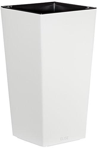 Plastkon Décoration Pot dans de et Outdoor Pot Elise Brillant Blanc 25 cm