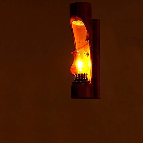 Lámpara pared industrial vintage Bamboo Arts Personalidad Dormitorio Lámpara noche Lámpara queroseno retro E14 Apliques luz pared restaurante Lámpara barra Cafetería Decoración club Linterna pared