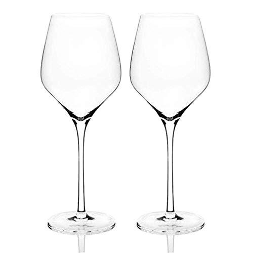 WYK Juego de copas de vino de cristal, sin plomo, para postre de vino tinto, copa de vino blanco, colección de copas de vino, copa de vino de Navidad personalizada, copa de vino grande de 17.6 onzas
