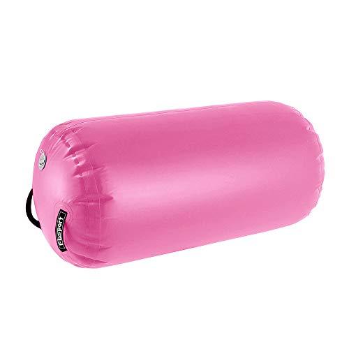 FBSPORT 100 CM Rodillo Hinchable para Gimnasia, Inflatable Tumbling Oval Esteras, Airtrack Ejercicio Herramientas, para Gimnasio/Yoga/Entrenamiento/Niños/Tumbling (sin Bomba)