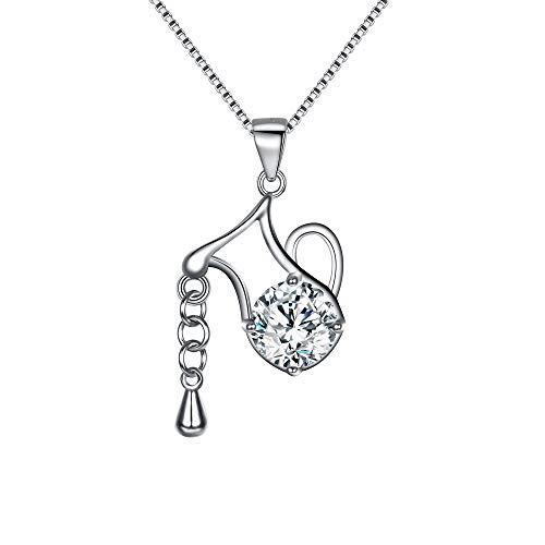 EVER FAITH 925 Sterling Silber CZ Horoskop Sternzeichen 12 Sternbild Wassermann Anhänger Halskette Klar