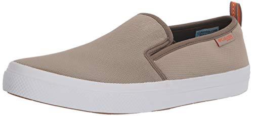 Columbia mens Dorado Slip Ii fashion sneakers, Canvas Tan/Valencia, 9 US