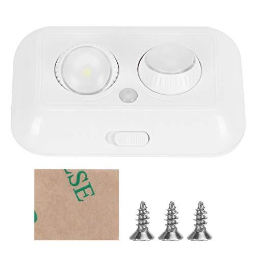 Jingyig Lámpara de inducción inalámbrica, Sensor de luz, Alto ángulo Sensible a la luz 2 LED ABS Blanco para entradas, gabinetes, aceras, terrazas