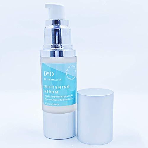 Dr. Dermalfix - Whitening Serum - Réparation - Réduit la Pigmentation Indésirable - Mélangé avec des Ingrédients naturels - Pas de Produits Chimiques Agressifs ni D'eau de Javel - 1 fl oz/29 ml