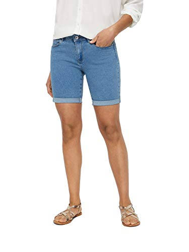 Vero Moda NOS Vmhot Seven Nw DNM Long F Short Mix Noos, Pantaloncini Donna, Blu Light Blue Denim), 42 (Taglia Produttore: Small)