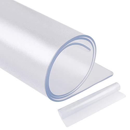 [Amazonブランド] Eono(イオーノ) 冷蔵庫マット キズ防止 凹み防止 床保護シート Lサイズ 70*75cm ~約600Lクラス シポ加工 透明 PVC材質 冷蔵庫耐震マット