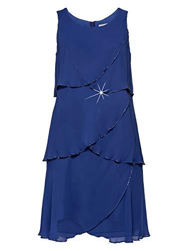 Sheego Kleid Abendkleid Knielang Cocktail Party Club Royal Blau 50