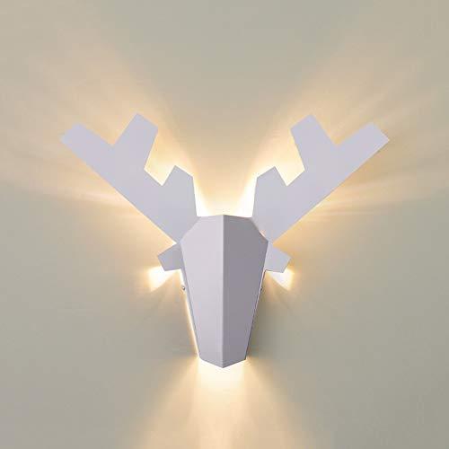MJZHJD Lámpara de Pared Moderna Minimalista Creativo Decorativo luz Tres Tonos de luz de Noche Salón Comedor Salón Corredor Restaurante Luz de Pared (Size : L)