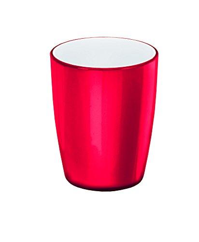 Kleine Wolke 5827459852 Gobelet à Dents Joker en Rouge, Plastique, 40x30x10 cm