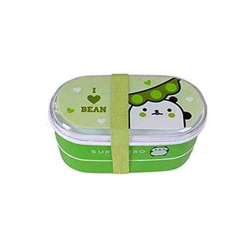 YNSNWBD Caja de almuerzo portátil de plástico de dibujos animados Bento Box Estudiante Saludable Bento Caja Contenedor de Alimentos Vajilla Niños Vajilla