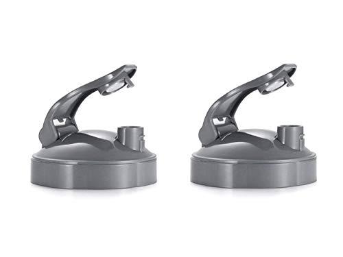 YUESUO NutriBullet Mixer Ersatzteile Deckel, NutriBullet Flip Top Deckel für 900 W / 600 W (2er-Set), Grau