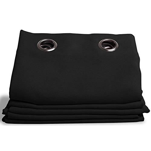 Moondream Rideau Thermique Hiver & Été, Isolation Thermique Froid & Chaleur, Technologie brevetée, Country Baby Noir - Jais, 145 x 260 (LxH) cm, Œillets (1 Rideau)