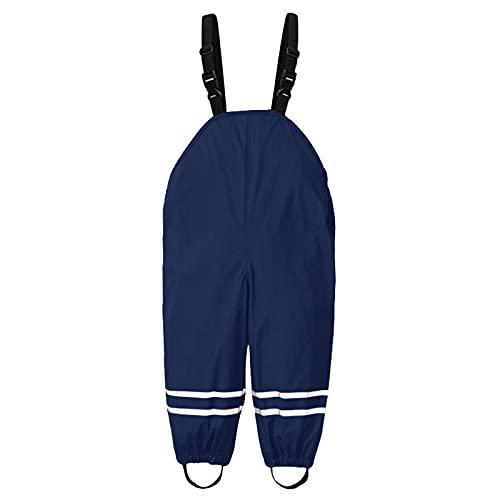 N/A/A Salopette de Pluie Unisexe pour Enfants Pantalon réfléchissant la Boue Coupe-Vent et Imper pour Enfants pour Jouer Dehors sous la Pluie dans la Boue ou dans Le bac à Sable