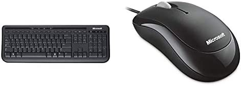 Microsoft Wired Desktop 600 Basic Optical Mouse Computer Zubehör