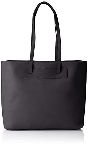TOM TAILOR Denim Shopper Damen, Alvina, Schwarz, 43x29x10 cm, Schultertasche, Tom Tailor Handtaschen Damen