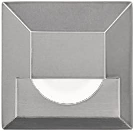 LED 12V 25% OFF Square Step and Wall Light Steel Translated 3000K in Stainless
