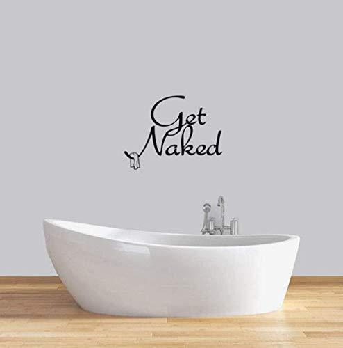 YAZCC Holen Sie Sich Nude Wandtattoo Badezimmer Badewanne Dusche Waschküche Home Decor Kreative wasserdichte Wandkunst Vinyl Wandaufkleber 42X55Cm