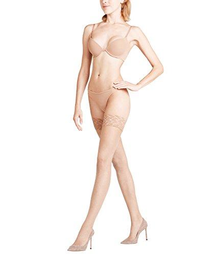 FALKE Damen Stay Ups Shelina 12 Denier - Ultra-Transparente, 1 Paar, Beige (Powder 4169), Größe: S