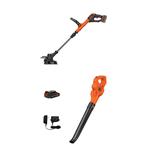 BLACK+DECKER LSTE523 20V MAX Lithium POWERCOMMAND Easy Feed String Trimmer/Edger and sweeper