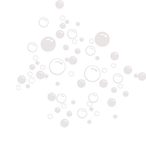 censhaorme Burbujas círculo extraíble papel del baño Ventana Etiqueta de la pared...
