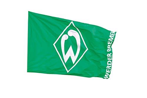 Werder Bremen Fanartikel-Hissfahne groß-300 x 200 cm-Flagge/Fahne, grün, L