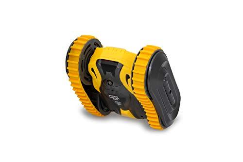 JAMARA 410140 - Trans Mover Stuntcar 4WD 2in1 2,4GHz - 2in1 Antriebssystem wahlweise Räder/Gummiketten - Überschlagresistent-überwindet Fast jedes Hindernis und fährt auch auf dem Rücken, gelb