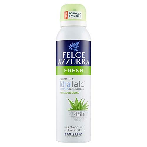 Felce Azzurra - Deodorante Spray Fresh con Aloe Vera, Formula IdraTalc, Efficacia 48 Ore, Non Macchia - 150 ml