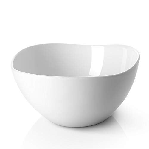DOWAN 3.2 Quarts Serving Bowls, 2 Packs Large Salad Bowls, Wavy Porcelain Bowl for Kitchen,Restaurant, Party