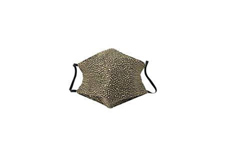 Borbonese Mascherina Natural Black con sacchettino antibatterica e traspirante