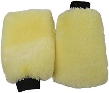 N D Benliu Natural Wool Car Wash Mitt Scratch Free Sheepskin Wash Mitt 3 pcs product image