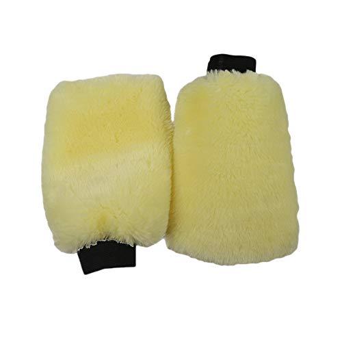 N&D Benliudh Natural Wool Car Wash Mitt Scratch-Free Sheepskin Wash Mitt 3 Pcs