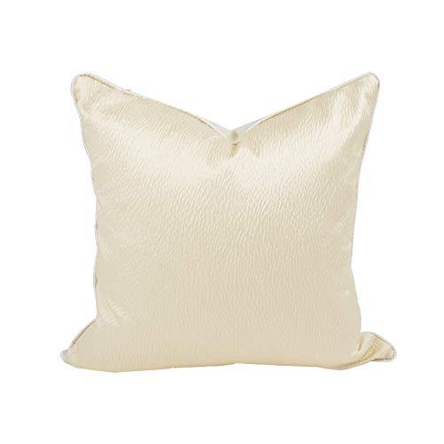 LLWYH Fundas para Cojines De Almohada Funda De Cojín Decorativa Cuadrada De Lujo para Sofá De Dormitorio De Textura De Color Crema 50x50 cm (Sin Núcleo De Almohada)