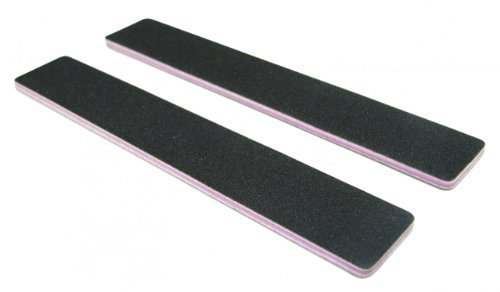 Standard Black 80/80 (Lav Ctr) 1-1/8 Wide Washable Jumbo Nail File by Nail File Guru