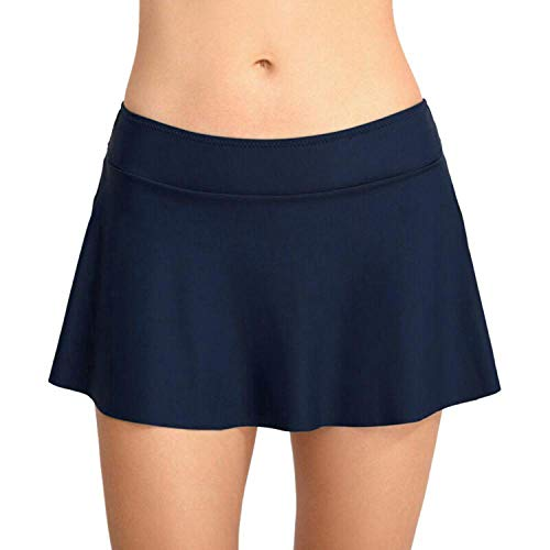 BSbattle Damen-Bikini, hohe Taille, Badehose, Bademode, Sommer, Strand, Bikini, Badehose, Bademode, Damen-Bikquini - Blau - XX-Large