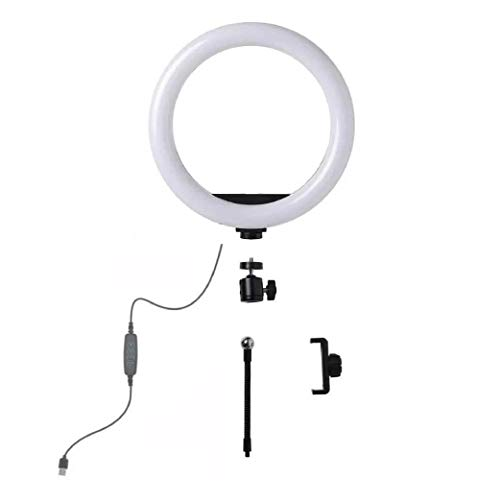RAYPOW Anillo de Luz DX260 · Aro de luz con tripode de 26 cm / 10 Pulgadas · LED 3 Modos de Luz Fotografía Profesional · para Android iOS · Aro de Luz para Movil TIK Tok Youtube