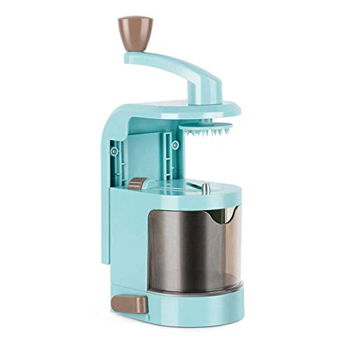 FEE-ZC 4-Blatt Sicherheit Gemüsespiralizer, Spiralizer Gemüsespiralizer Hochleistungs-Spiralschneider Zucchini Nudel Veggie Pasta Maker Multifunktion, Blau