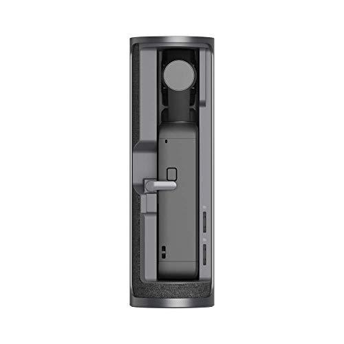 DJI Pocket 2 Ladeschale - Innovatives Rotationsdesign, Unterwegs aufladen, handliche Aufbewahrung, Öse für Tragebänder, Beeindruckende 1.500 mAh Leistung für längere Aufnahmezeit